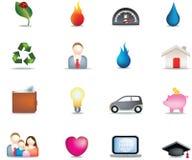 комплект иконы кнопки домашний