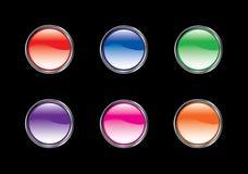 комплект иконы кнопки лоснистый Стоковые Изображения RF