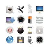 комплект иконы компьютера Стоковое Изображение RF