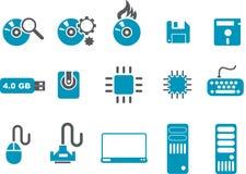 комплект иконы компьютера иллюстрация вектора
