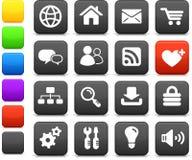 Комплект иконы конструкции интернета Стоковое Изображение