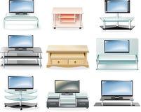 комплект иконы мебели стоит вектор tv Стоковая Фотография RF
