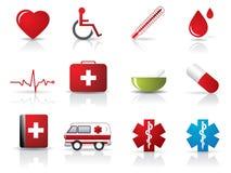 комплект иконы медицинский Стоковое Фото