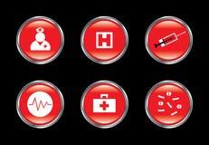 комплект иконы медицинский иллюстрация вектора