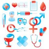 комплект иконы медицинский Стоковое фото RF