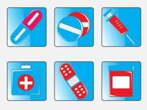 комплект иконы медицинский Стоковые Изображения RF
