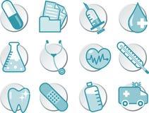 Комплект иконы медицинского соревнования Стоковое Фото