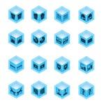 комплект иконы настольного компьютера Стоковые Изображения