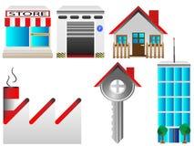 Комплект иконы недвижимости Стоковая Фотография RF