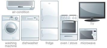 комплект иконы оборудования домашний Стоковая Фотография RF