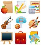 комплект иконы образования иллюстрация вектора