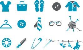 комплект иконы одежды иллюстрация вектора