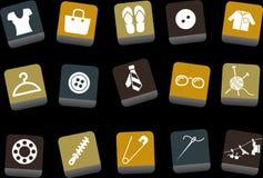 комплект иконы одежды Стоковые Изображения