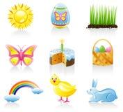 комплект иконы пасхи Стоковые Изображения RF