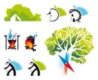 Комплект иконы перемещения Иллюстрация штока