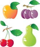 комплект иконы плодоовощей Стоковое фото RF