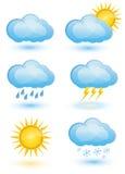 Комплект иконы погоды Стоковая Фотография