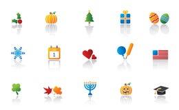комплект иконы праздника Стоковая Фотография