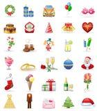 комплект иконы праздников Стоковое фото RF