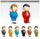 комплект иконы предпринимателей Стоковое Фото
