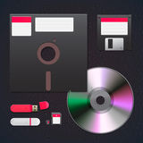 Комплект иконы приборов цифровых данных Стоковое фото RF