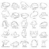 Комплект иконы профессий Стоковая Фотография RF