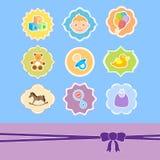 комплект иконы рамки младенца иллюстрация вектора