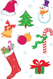 комплект иконы рождества Стоковое Изображение RF