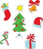 комплект иконы рождества Стоковое Изображение