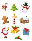 Комплект иконы рождества иллюстрация штока