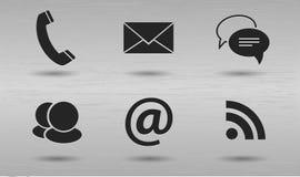 комплект иконы связи самомоднейший стильный стоковое изображение