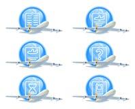 Комплект иконы состояния полета Стоковая Фотография RF
