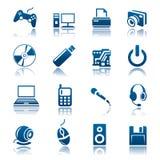 комплект иконы устройства Стоковые Фотографии RF
