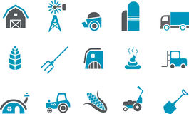 комплект иконы фермы Стоковые Изображения RF
