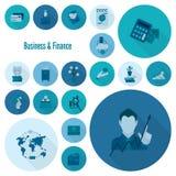 комплект иконы финансов дела Стоковое Изображение RF