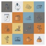 комплект иконы финансов дела Стоковая Фотография RF