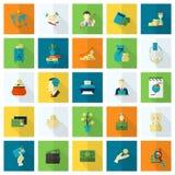 комплект иконы финансов дела Стоковые Изображения RF