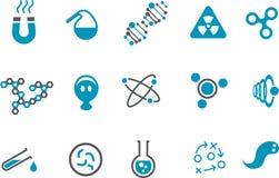 комплект иконы химии Стоковая Фотография RF