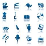 комплект иконы хобби искусства Стоковые Фотографии RF