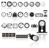 Комплект иконы часов Стоковое Фото
