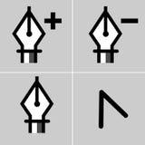 Комплект иконы чертегного инструмента Стоковые Фотографии RF