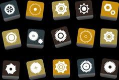 комплект иконы шестерен иллюстрация штока