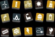комплект иконы энергии иллюстрация вектора