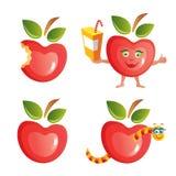 комплект иконы яблока Стоковые Изображения RF