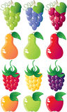 комплект иконы ягод Стоковое фото RF