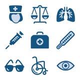 комплект иконы 13 син Стоковая Фотография