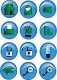 комплект иконы Стоковое Изображение RF