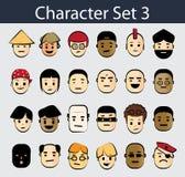 комплект иконы 3 характеров Стоковая Фотография RF