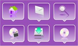комплект иконы 3d Стоковая Фотография