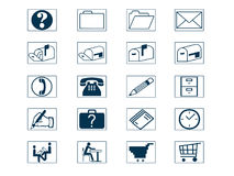 комплект иконы Стоковое Изображение